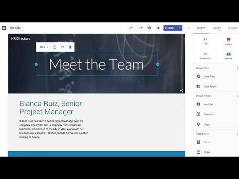Much improved Google Sites now available to all G Suite users