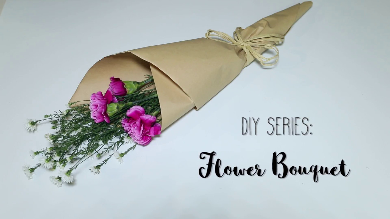 Diy Series Flower Bouquet Youtube