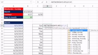 Excel Magic Trick 1124: Conditional Format Sundays & Weekends: NETWORKDAYS.INTL & NOT functions