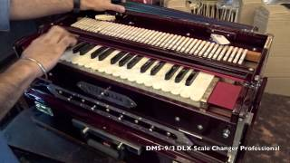 DMS- 9/3 Deluxe model..Professional Scale Changer Harmonium by DMS (INDIA)