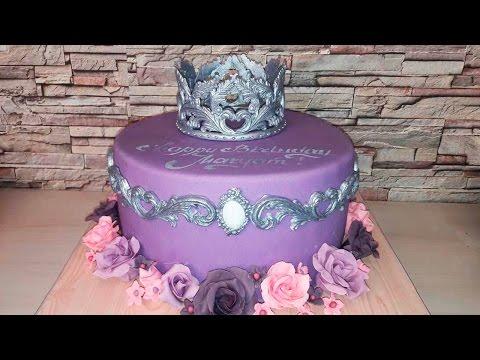 Корона из мастики для торта - Я - ТОРТодел!