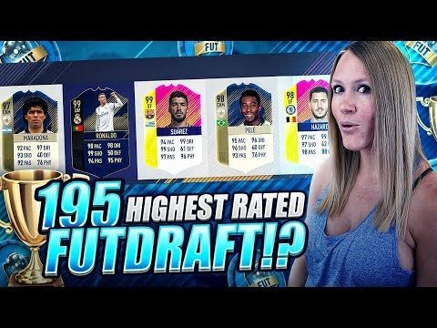 BEATING THE WORLD RECORD 195 RATED FUT DRAFT CHALLENGE!! FIFA 18