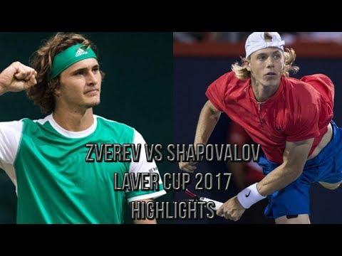 Alexander Zverev Vs Denis Shapovalov - Laver Cup 2017 (Highlights HD)