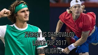 Alexander Zverev Vs Denis Shapovalov - Laver Cup 2017 (Highlights HD)