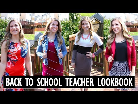 Back to School Teacher LOOKBOOK | Teacher Evolution Ep 2