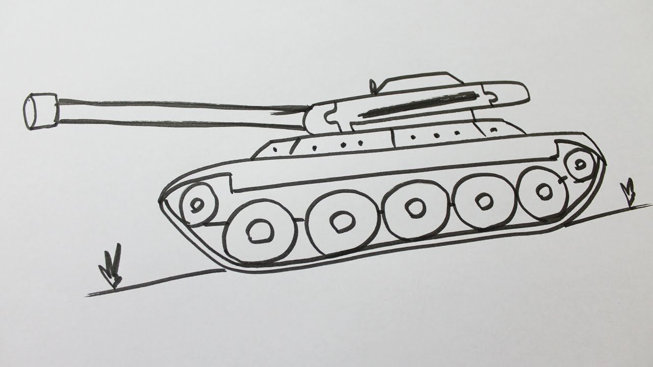 Comment Dessiner Un Tank Youtube