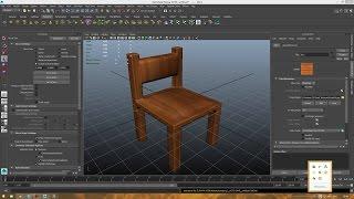 Уроки Autodesk Maya. Делаем стул и текстурим его.