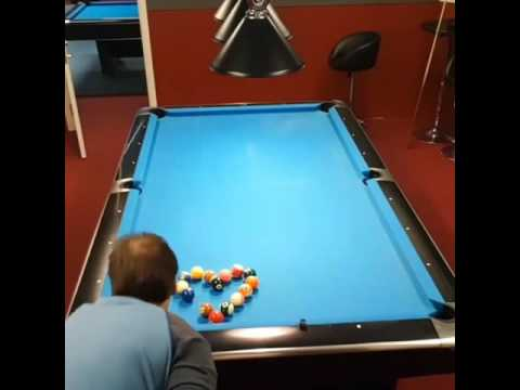 Man Does Heart Shaped Pool Trick