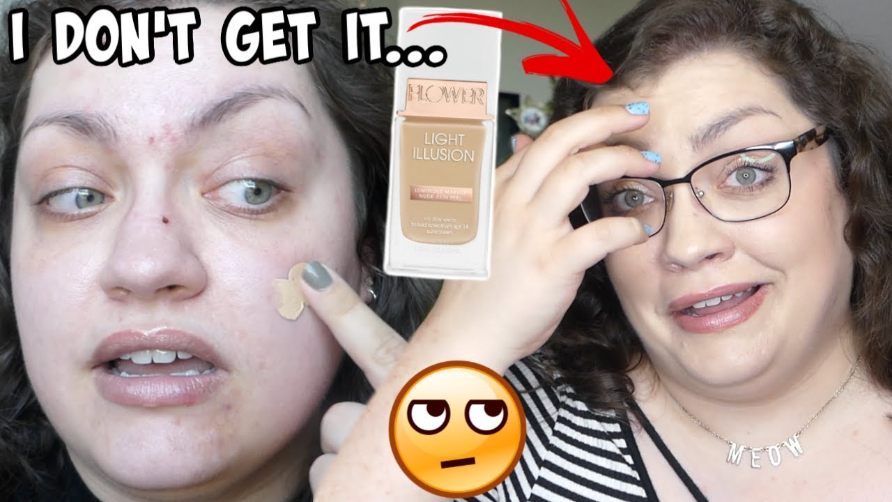 SO MUCH HYPE... WHY?? | Flower Beauty Light Illusion Foundation (WEEKLY WEAR: Oily Skin Review)