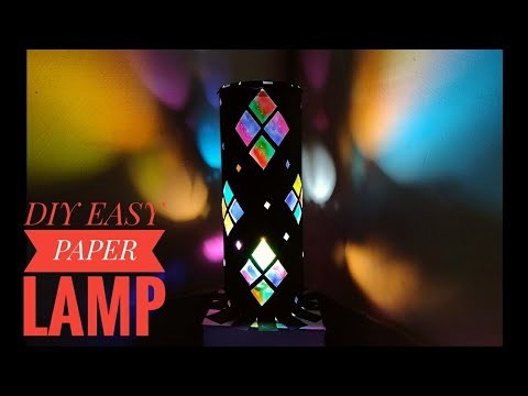 How To Make A Paper Lampshade For Kids Cost Below 150 Rupees | Rainbow Paper Lampshade For Kids
