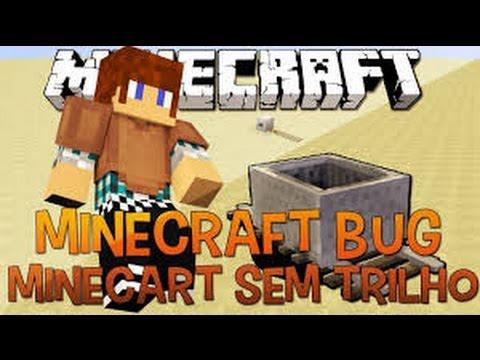 Minecraft Pe -como Fazer Bug Do Minecart Andar Sem Trilho