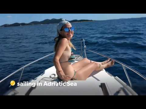 Sailing Adriatic Sea Croatia boat (from Zadar to Ugljan, Pas