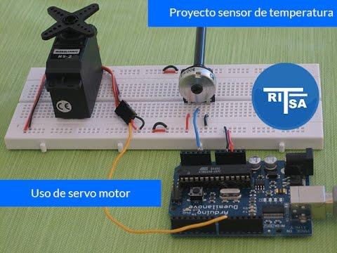 Sensor De Temperatura En Arduino Con Servo Motor Curso Arduino Youtube