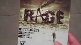 RAGE: Anarchy Edition Unboxing (PS3) Release Day!!
