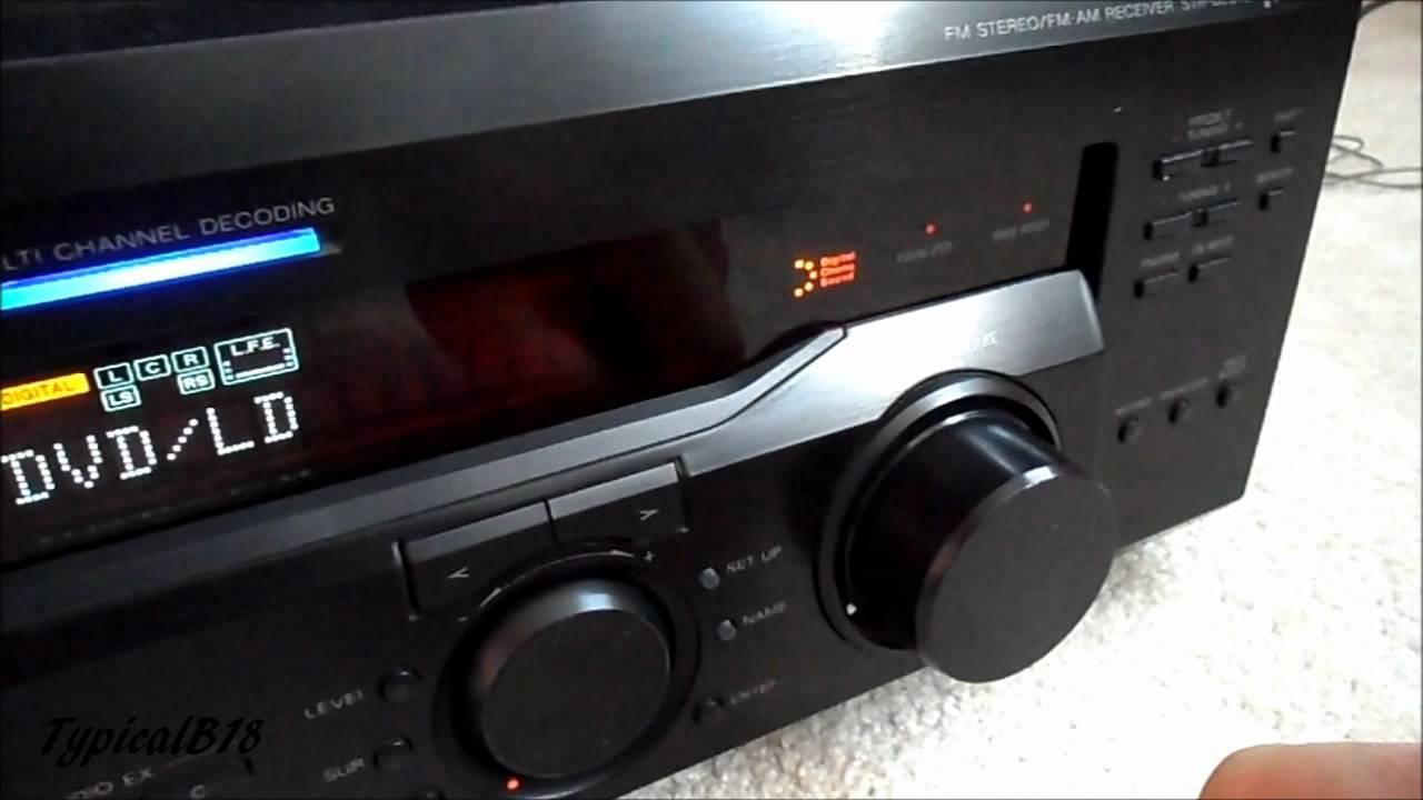 sony str de845 receiver look overview