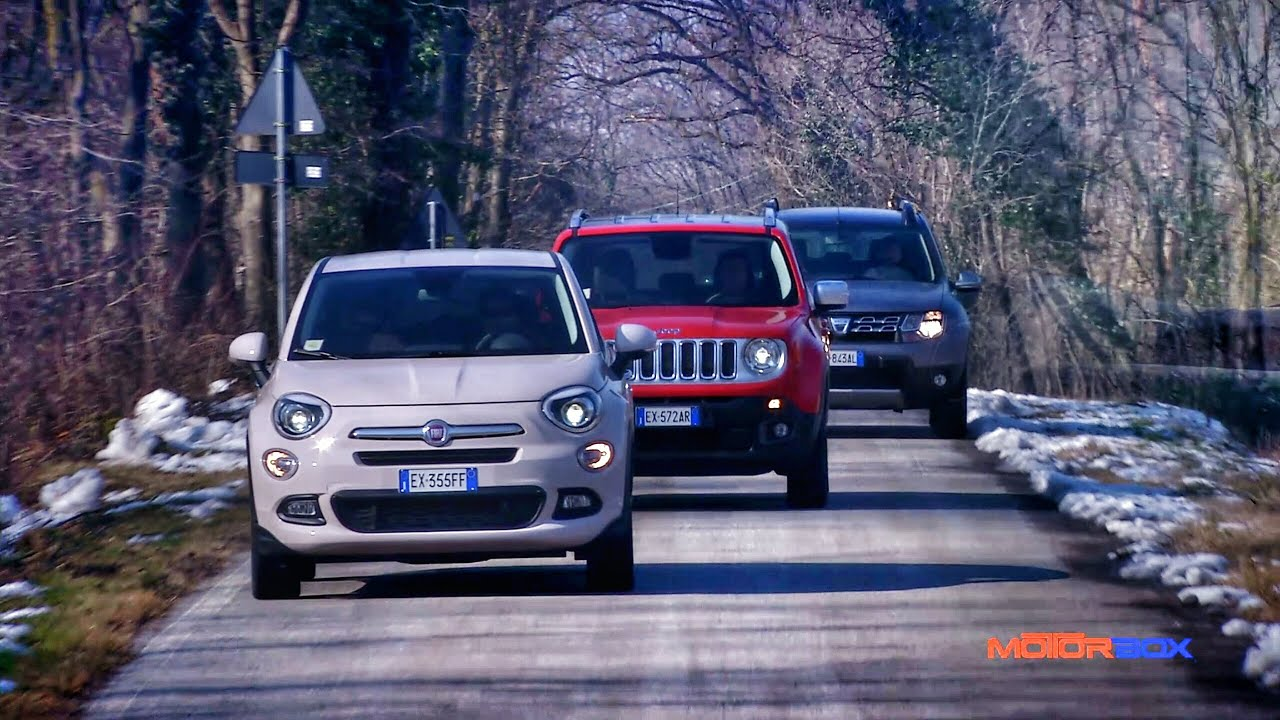 fiat   jeep renegade  dacia duster youtube