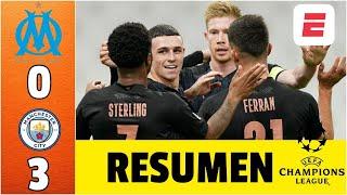 Marsella 0-3 Manchester City GOLES de Sterling, Torres y Gundogan. No jugó Agüero | Champions League