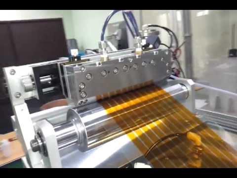 R2R flexible OPV(Organic photovoltaic) Equipment by Slot Die.mp4