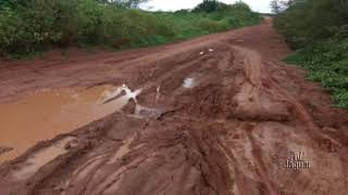 Flávio Costa relata o estado de abandono da estrada que liga Tabuleiro ao Rio Grande do Norte