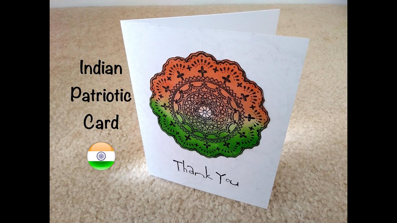 Indian Patriotic Card Independence Day Card Thank You Card For