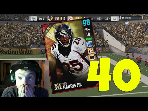 96 OVERALL CHRIS HARRIS JR! BEST CORNER IN THE GAME! - MADDEN 17 ULTIMATE TEAM GAMEPLAY EP 40