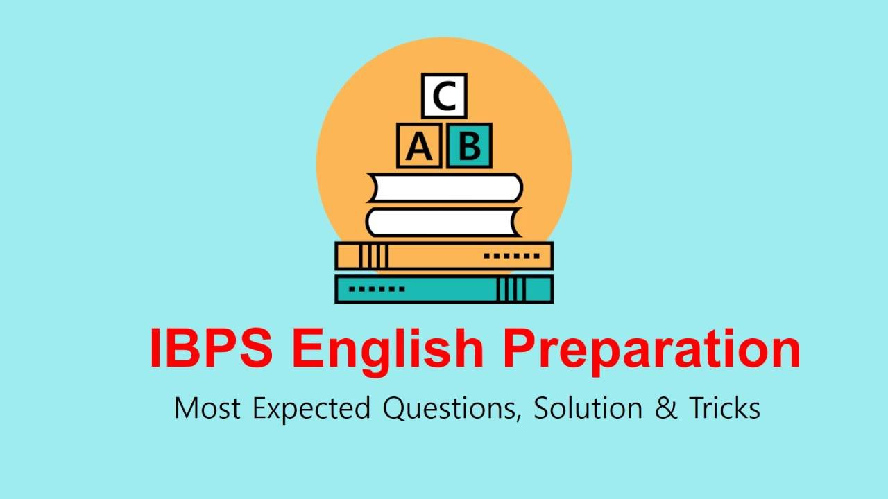 Ibps english preparation most expected questions solution and tricks