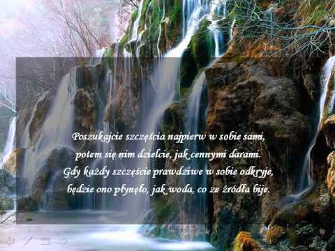 W Poszukiwaniu źródeł Szczęścia Wiersz Przesłanie