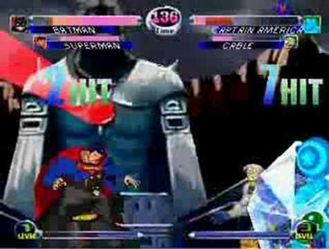 Superman & Batman VS Cable & Capt. America