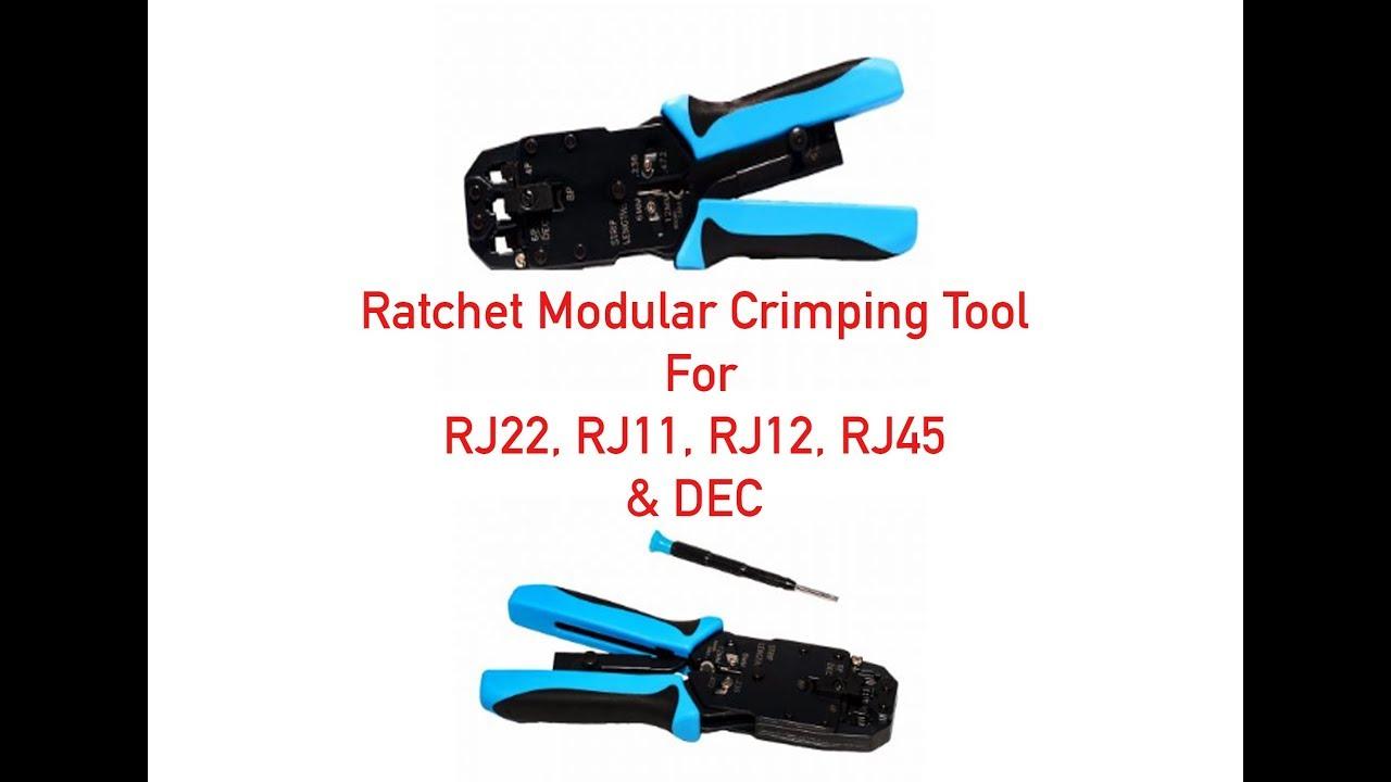 """RJ11//RJ12//RJ45 Network LAN Cable Crimper Modular Plug Crimping  8/""""  Pliers Tool"""