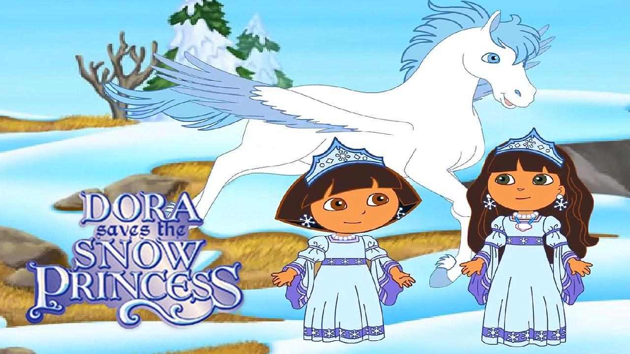 3 dora saves the snow princess video game gameplay videospiel game movie for kids youtube - Princesse dora ...