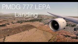 PMDG 777F LEPA Majorca Landing