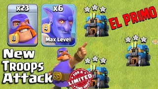 23 El Primo + 6 Bowler + Wall Waecker :: NEW TROOPS TH12  3STAR ATTACK STRATEGY 2018 (New Update)