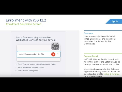 VMware Workspace ONE UEM™ Powered by AirWatch 1903 Release Notes