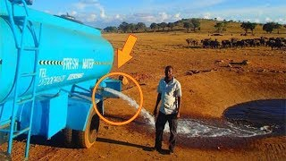 Every Day This Man Drives For Hours With 3000 gallons of Water– Watch When He Lets Water Flow