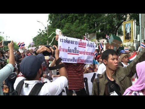 Protest marks fourth year of Thai junta rule