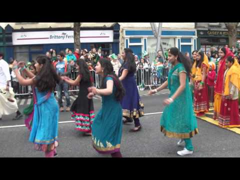 Indian Community Cork....St Patricks Day Parade, Cork, Ireland...2014