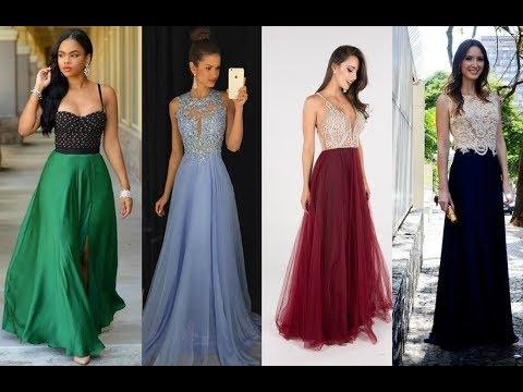 2 Cores De Vestidos Para Festa Curto E Longo Para Você Escolher