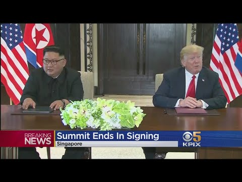 President Trump And Kim Jong Un Sign 'Comprehensive' Document To End Historic Summit