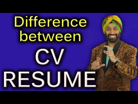 Difference Between CV & Resume | How To Improve English Speaking Skills In Hindi | TsMadaan