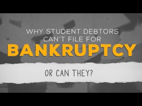 Why Student Debtors Can't File for Bankruptcy—Or Can They?