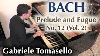 BACH Prelude and Fugue in f minor BWV 881 from WTC II  Gabriele Tomasello