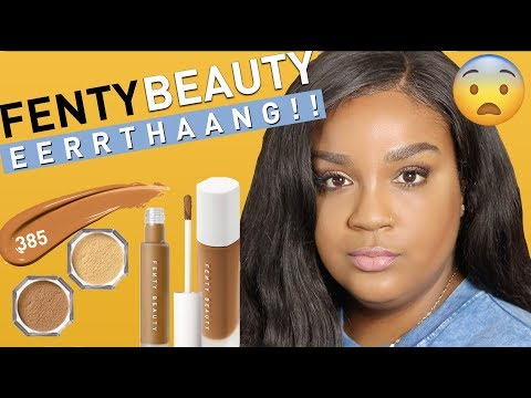 UNSPONSORED FENTY BEAUTY CONCEALER & SETTING POWDER REVIEW | itsagoldenlifestyle