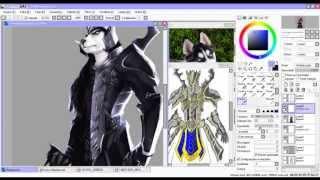 Siberian Husky Black Armor _ Speed Paint _ Paint Tool Sai
