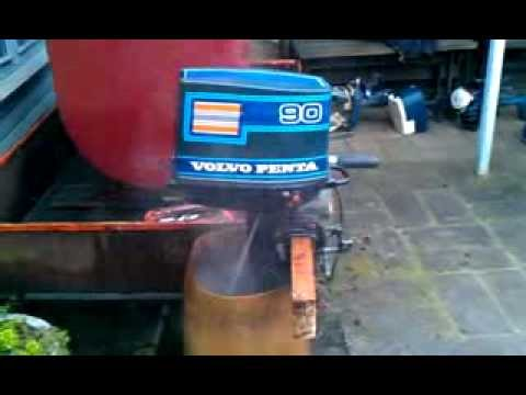 Volvo Penta 90, 9 HP outboard engine - YouTube