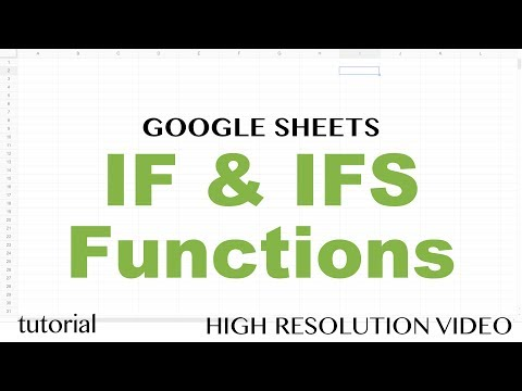 Google Sheets IF & IFS Functions - Formulas with If, Then, Else, Else If Statements