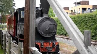 Smalspårs ånglokståg vid Norsk Jernbanemuseum KULLYWOOD