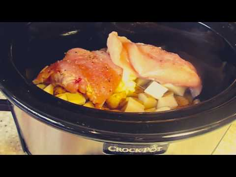 CROCKPOT ITALIAN CHICKEN WITH POTATOES AND GREEN BEANS