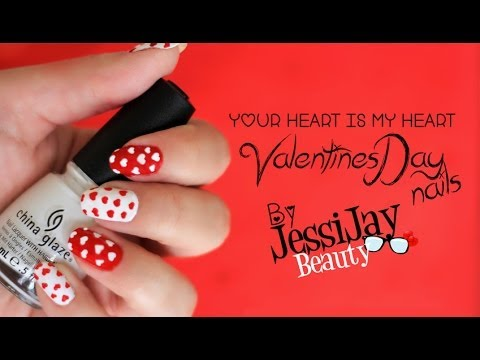 Easy Way To Create Hearts On Your Nails Youtube