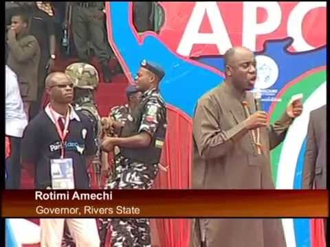 APC Mega Rally in River State; Party Leaders Commend Gov.Amaechi on His Developmental Strides