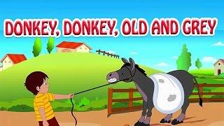 Donkey, Donkey, Old And Grey | Animated Nursery Rhyme in English